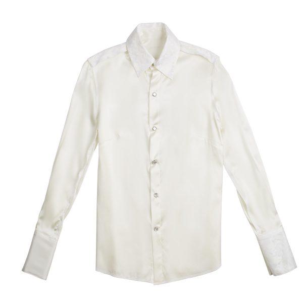 Ava - White Silk Front