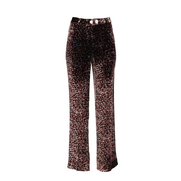 Ears of Buddha - Bronze Leopard Print Pants