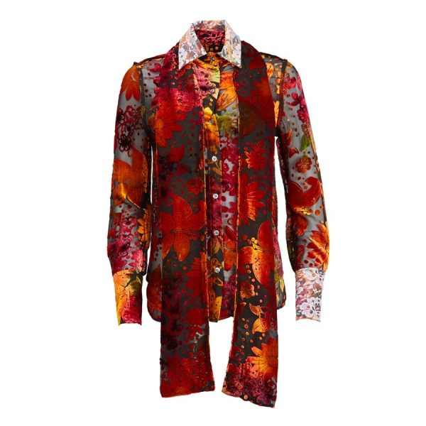 Ears of Buddha - Ava Floral Velvet Shirt