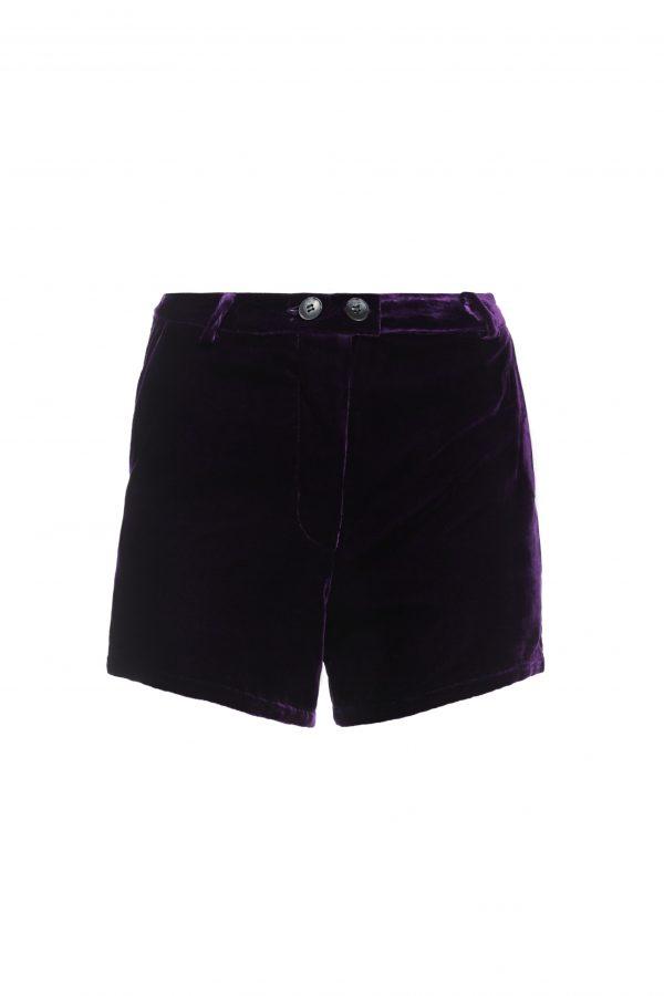 Ava - Purple Velvet Shorts