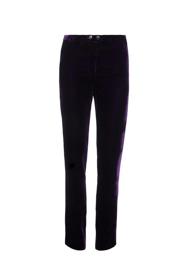 Ava - Purple Velvet Pants