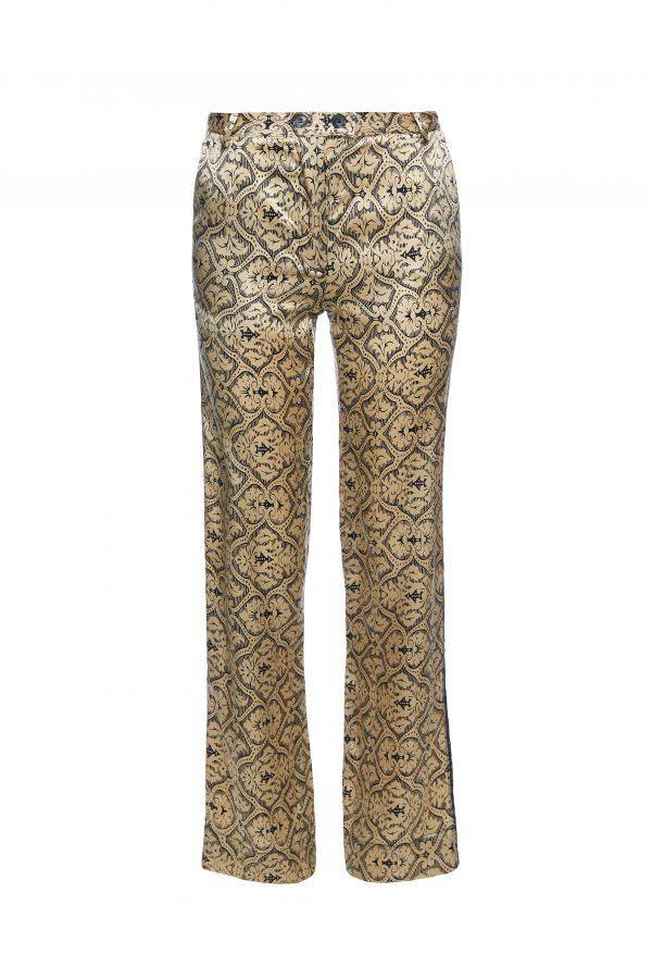 Goldie - Golden Black Pattern Pants