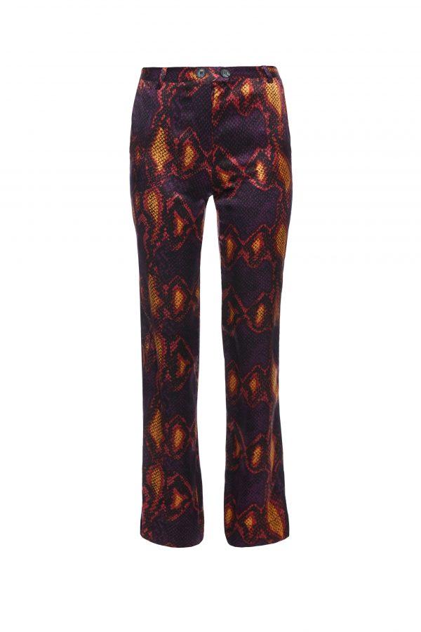 Goldie - Purple Snake Skin Pattern Pants