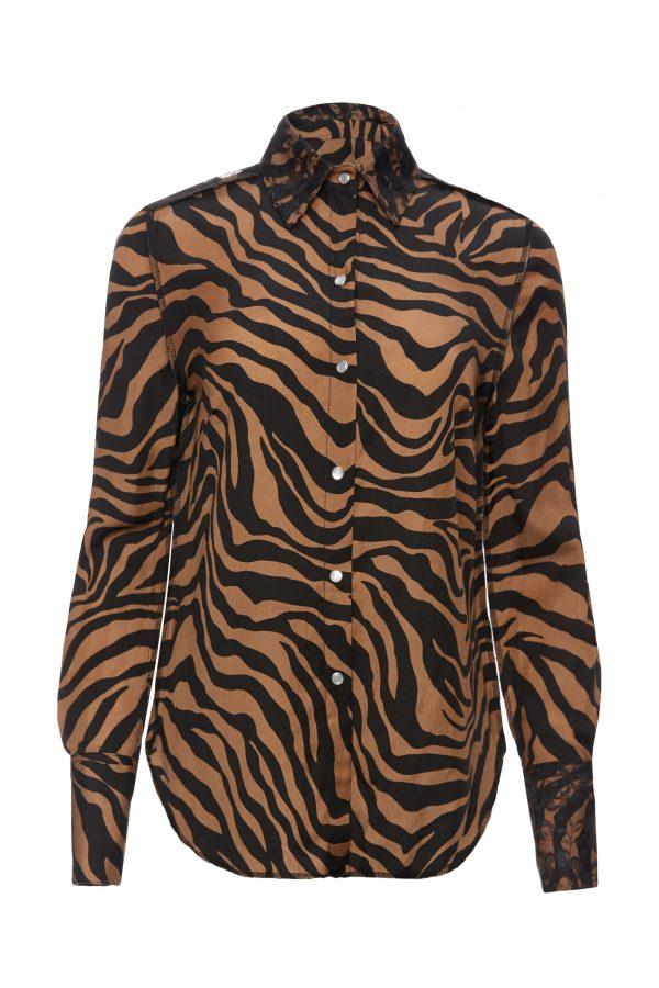 Franky - Brown Zebra Shirt