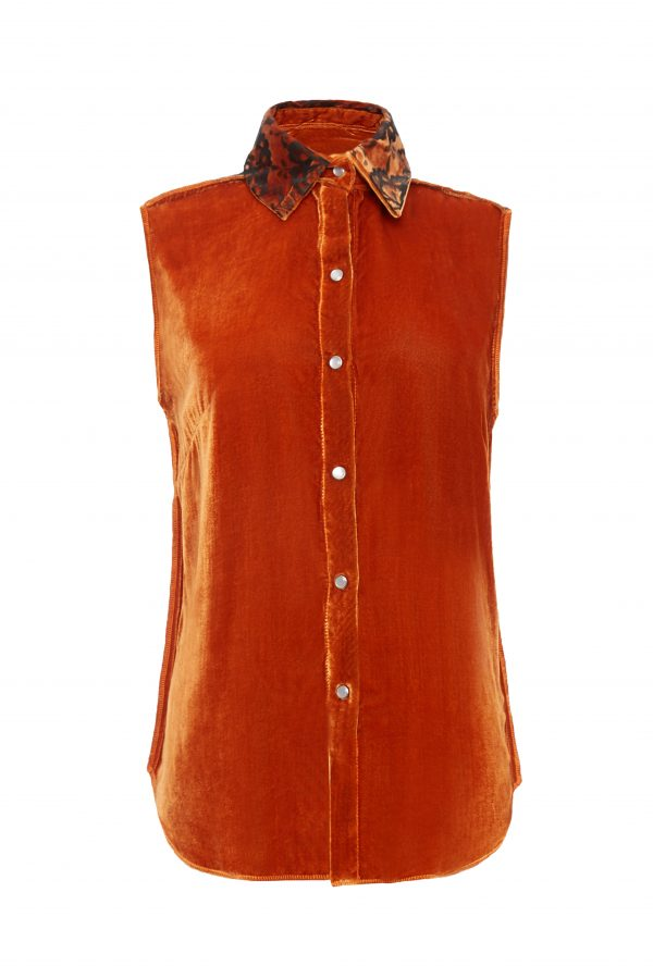 Ava - Burnt Orange Sleeveless