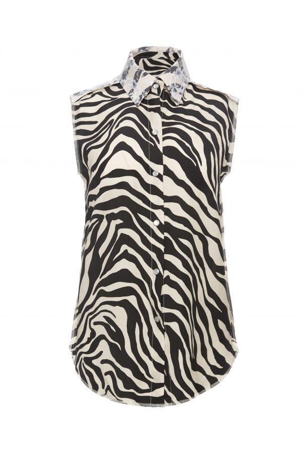 Franky - White Zebra Sleeveless