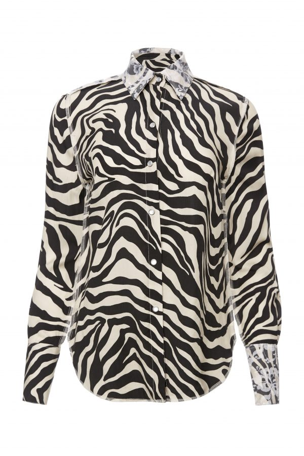 Franky - White Zebra Shirt