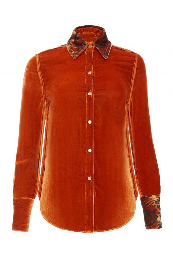 Ava - Burnt Orange Shirt