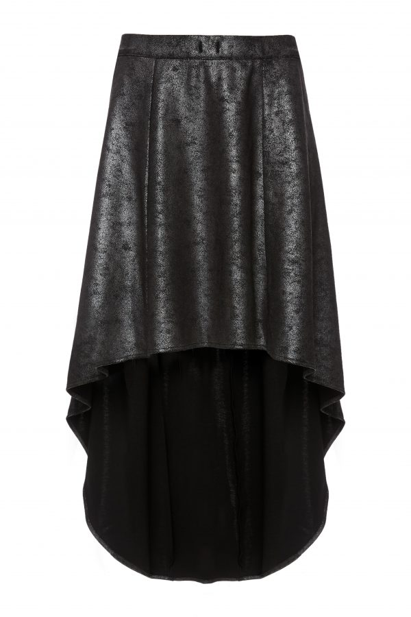 Franky - Grey Metallic Skirt