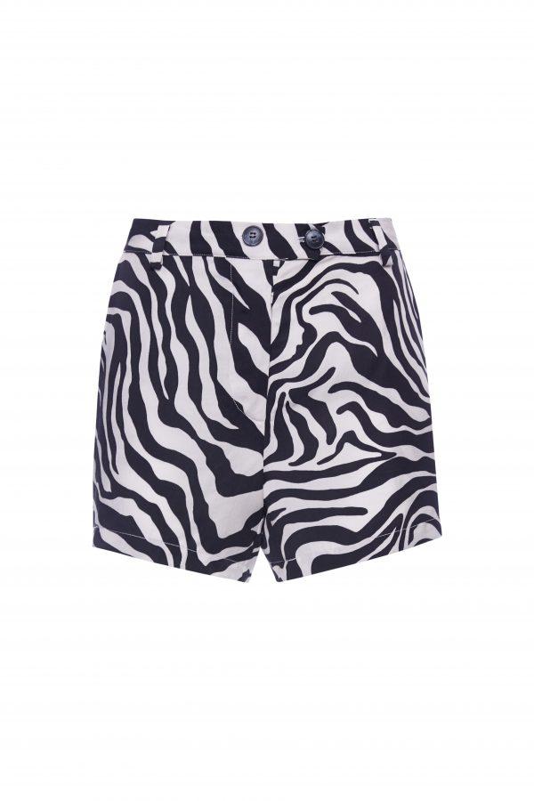 Franky - White Zebra Shorts