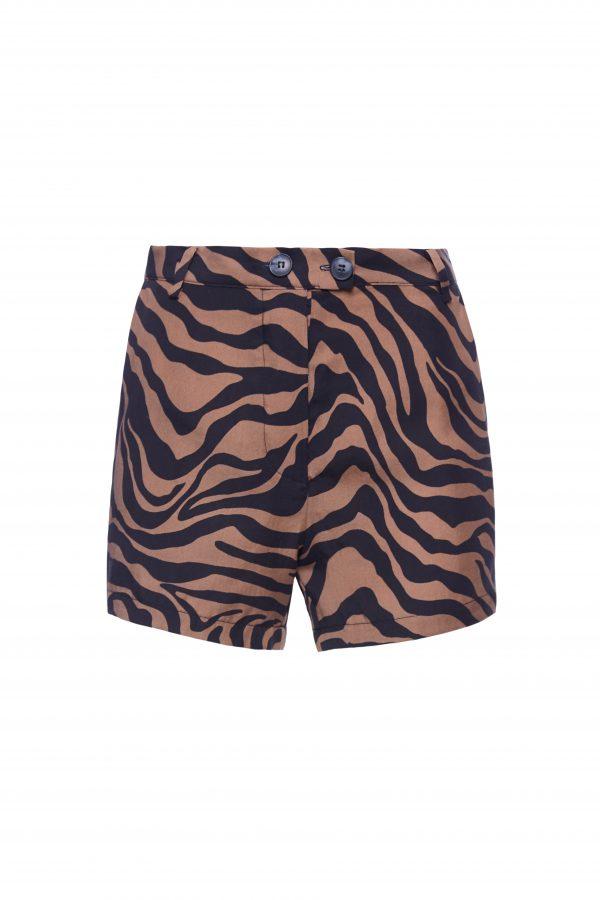 Franky - Brown Zebra Shorts